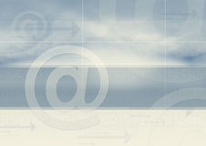 Email transfers graphic  Royalty Free Stock Images