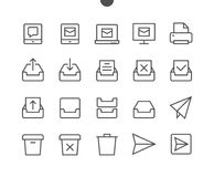 Email UI Pixel Perfect Well-crafted Vector Thin Line Icons 48x48 Ready for 24x24 Grid for Web Graphics and Apps with Royalty Free Stock Photography