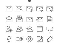 Email UI Pixel Perfect Well-crafted Vector Thin Line Icons 48x48 Ready for 24x24 Grid for Web Graphics and Apps with Stock Photos