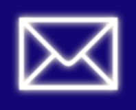 EMail-Umschlag Lizenzfreies Stockbild