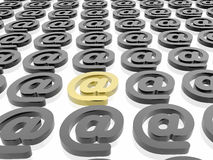 Email unico Immagine Stock