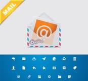 Email universel des glyphs 11. illustration stock