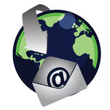 Email / Vector. An illustration of a Global email. Vector File available Royalty Free Stock Photography