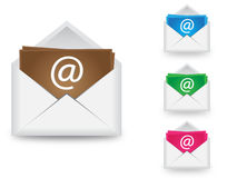 Email vector in 4 colors Royalty Free Stock Images