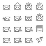 Email Vector Line Icon Set. Contains such Icons as Inbox, Letter, Attachment, Envelope and more. Expanded Stroke. Email Vector Line Icon Set. Contains such Icons stock illustration
