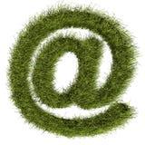 Email verde Imágenes de archivo libres de regalías