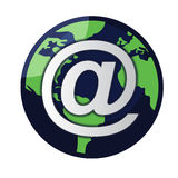 Email/vetor do globo ilustração do vetor