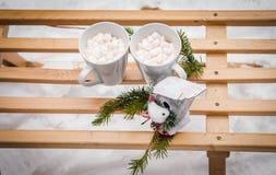 Email-weiße Kaffeetasse-Schale des Kakao-heißen Getränks Lizenzfreies Stockbild