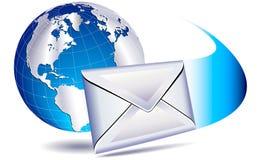 EMail, welche die Welt sendet Stockbild