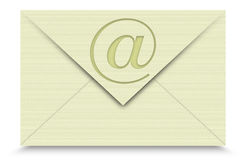 Email on White background Stock Images