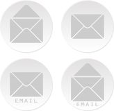 Email white bottons Stock Photos