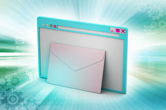 Email with windows explorer Royalty Free Stock Photos