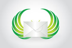 Email with wings illustration design Royalty Free Stock Image