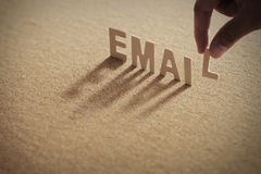 EMAIL wood word on compressed board Royalty Free Stock Image