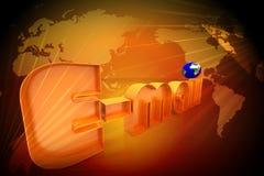 Email world Stock Photo