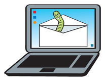 Email Worm Royalty Free Stock Photo