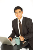 Email y café Foto de archivo libre de regalías