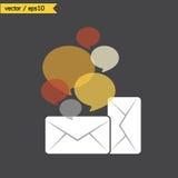Email z bąbel wycena ilustracji