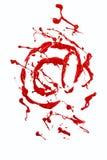 Email znak malująca czerwona farba ilustracja wektor