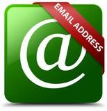 Emaila adresu zieleni kwadrata guzik Obrazy Royalty Free