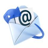 Emaila błękita symbol Zdjęcia Stock