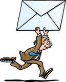 emaila biznesowy mężczyzna Zdjęcia Stock
