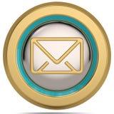 Emaila 3d symbol odizolowywający na białym tle ilustracja 3 d royalty ilustracja