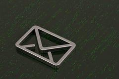 Emaila 3d symbol odizolowywający na cyfrowym tle ilustracja 3 d royalty ilustracja