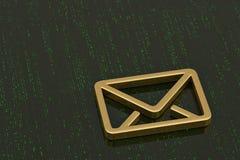 Emaila 3d symbol odizolowywający na cyfrowym tle ilustracja 3 d ilustracja wektor