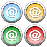 emaila ikony internety Obraz Royalty Free
