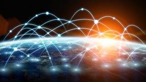 Emaila, komunikaci i interneta zastosowanie, ilustracja wektor
