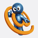 Emaila kontakt i poparcia centre ikony symbol royalty ilustracja