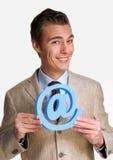 Emaila mężczyzna. Zdjęcie Stock