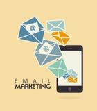 Emaila marketing royalty ilustracja