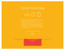 Emaila marketingowego wektorowego pojęcia strony internetowej lądowania strony ilustracyjny szablon Obrazy Stock