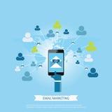 Emaila marketingowy pojęcie Obraz Stock