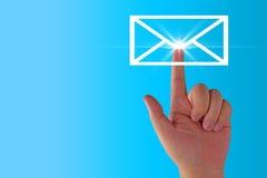 Emaila pojęcia tło Zdjęcie Stock