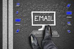 Emaila pojęcie na drodze Zdjęcie Stock