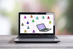 Emaila pojęcie na laptopu ekranie Fotografia Stock
