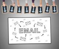 Emaila pojęcie na whiteboard Zdjęcia Royalty Free