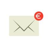 Emaila przelewu pieniędzy ikona Zdjęcie Stock