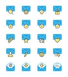 Emaila & wiadomości ikony, Monochromatyczny kolor - Wektorowa ilustracja Zdjęcia Royalty Free