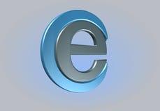 Emaildiagonal Arkivbild