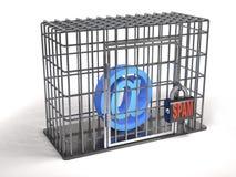 Emailen är en fånge av illustrationen för skräpposten 3d Arkivfoto