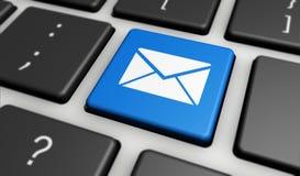 Emailen Sie Ikonen-Internet-Newsletter und treten Sie mit uns Konzept in Verbindung Stockfotos