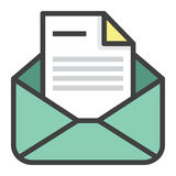 Emailform Vektor Illustrationer