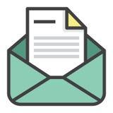 Emailform vektor illustrationer