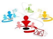 Emailinformationsbladsegmentering Arkivbild