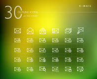 Emailing status outline icons set. Emailing status line icons set for web and mobile app. EPS10  file organized in layers for easy editing Royalty Free Stock Images