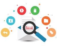Emailkuvert & symboler Stock Illustrationer